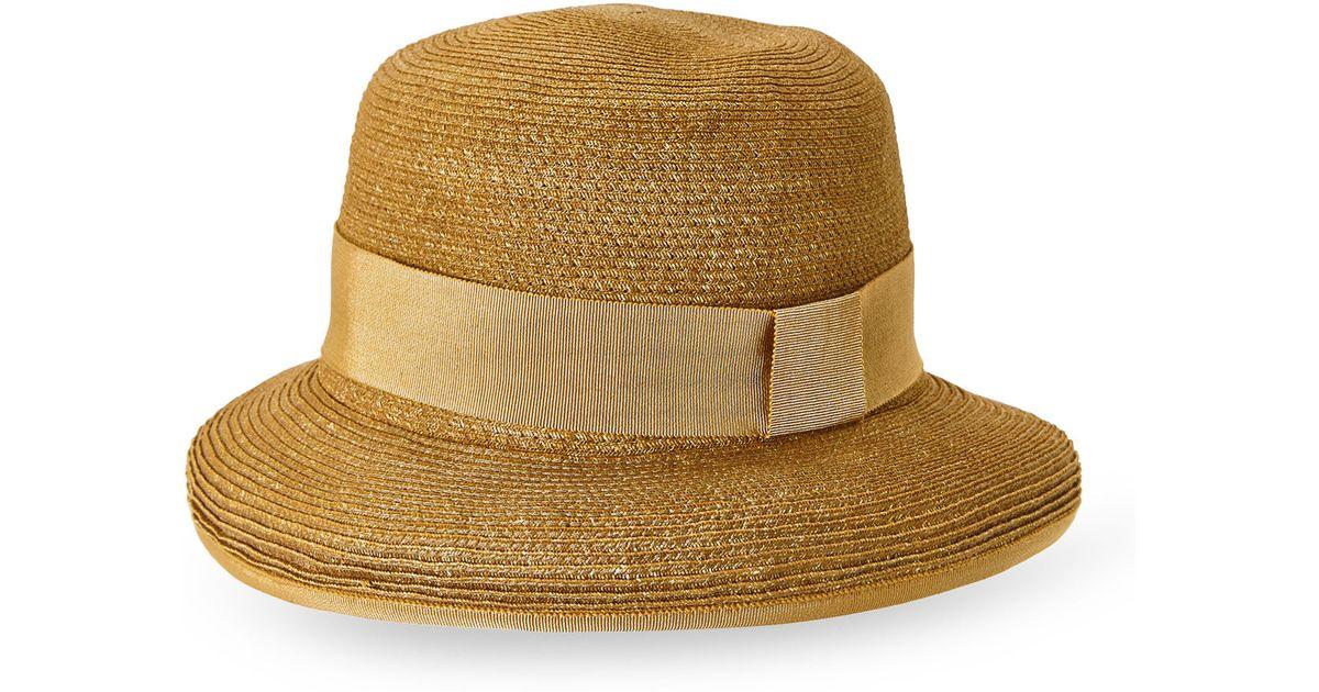 8f0087b8180e7 Lyst - Hermès HermãˆS Natural Rolled Brim Sun Hat in Natural