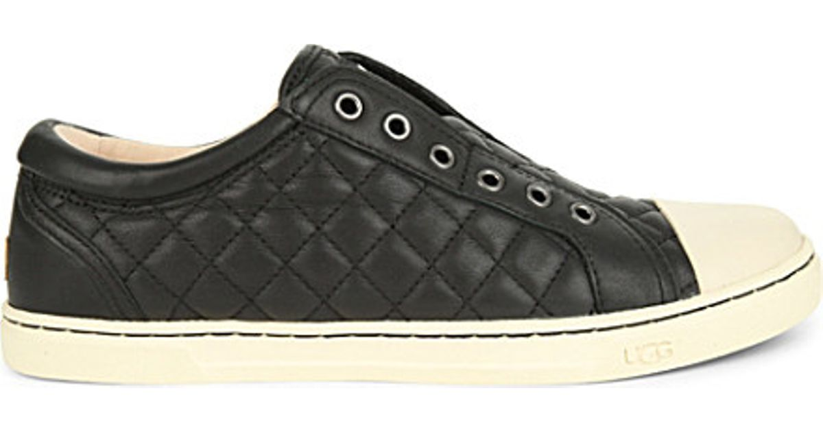 UGG Leather Jemma Quilted Trainers in