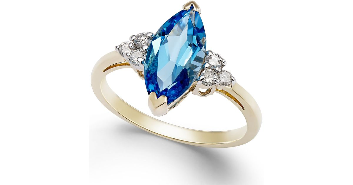 Blue Topaz Diamond Ring Macy