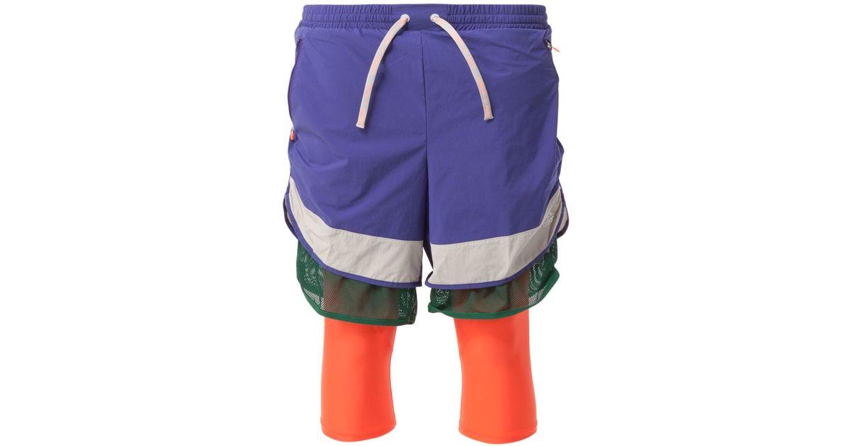 Adidas Kolor x Track shorts en verde para hombres Lyst