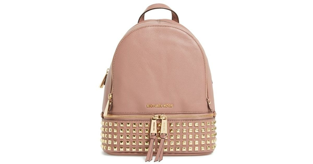 57c4f97816c5 MICHAEL Michael Kors 'small Rhea' Studded Backpack in Pink - Lyst
