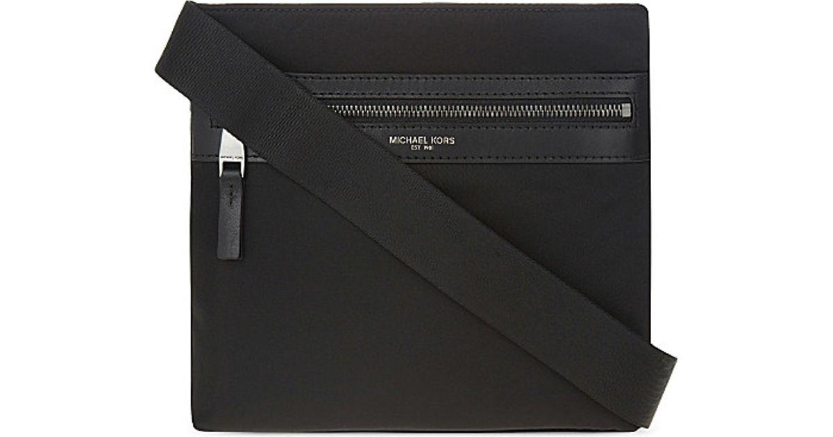 18e87e195ea1 Michael Kors Kent Small Nylon Cross-body Bag in Black for Men - Lyst