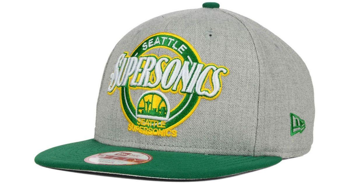 2abd2b79217 Lyst - KTZ Seattle Supersonics Hwc Custom Closer 9fifty Snapback Cap in  Green for Men