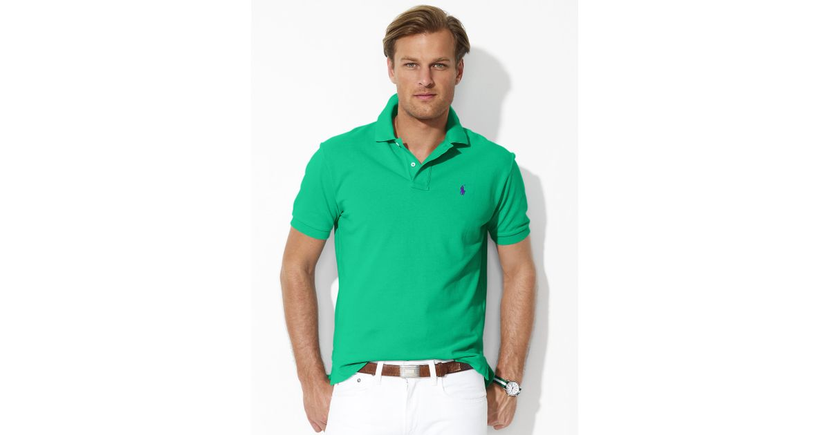 Classic Men Fit Lauren Green Mesh For Polo Ralph by6f7gY