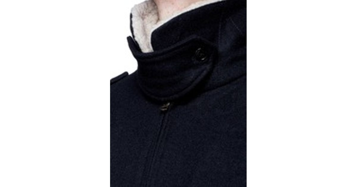 ad856c9ed J.Crew Black Wallace & Barnes Sherpa-collar Constrast Wool Bomber Jacket  for men
