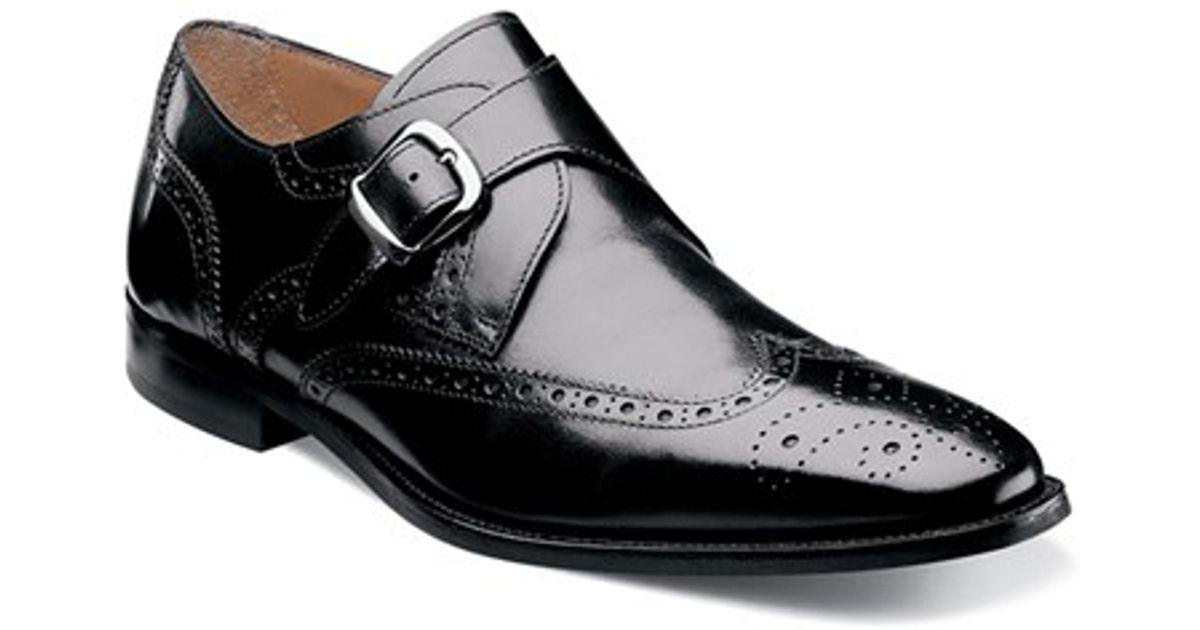 Florsheim Black Monk Strap Shoes