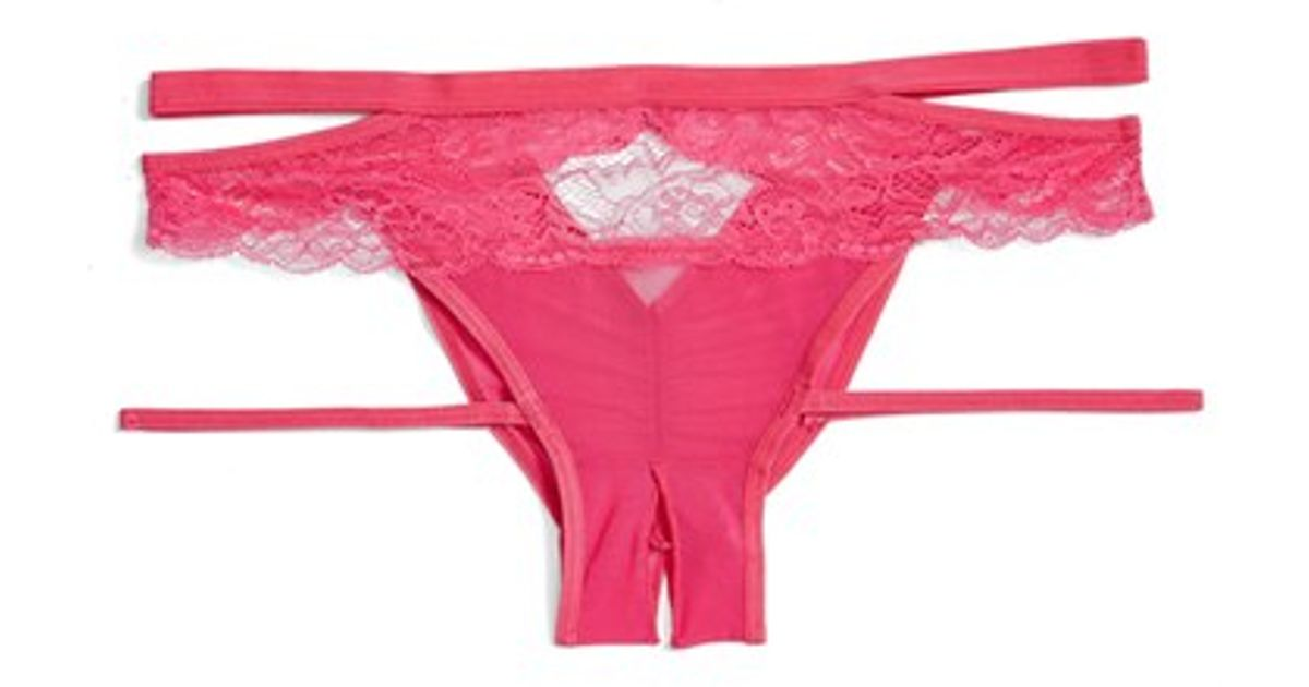 14e52c0fa462 Honeydew Intimates 'lucy' Open Gusset Hipster Briefs in Red - Lyst