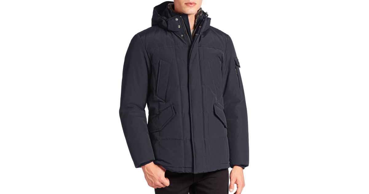 woolrich blizzard jacket in blue for men lyst. Black Bedroom Furniture Sets. Home Design Ideas