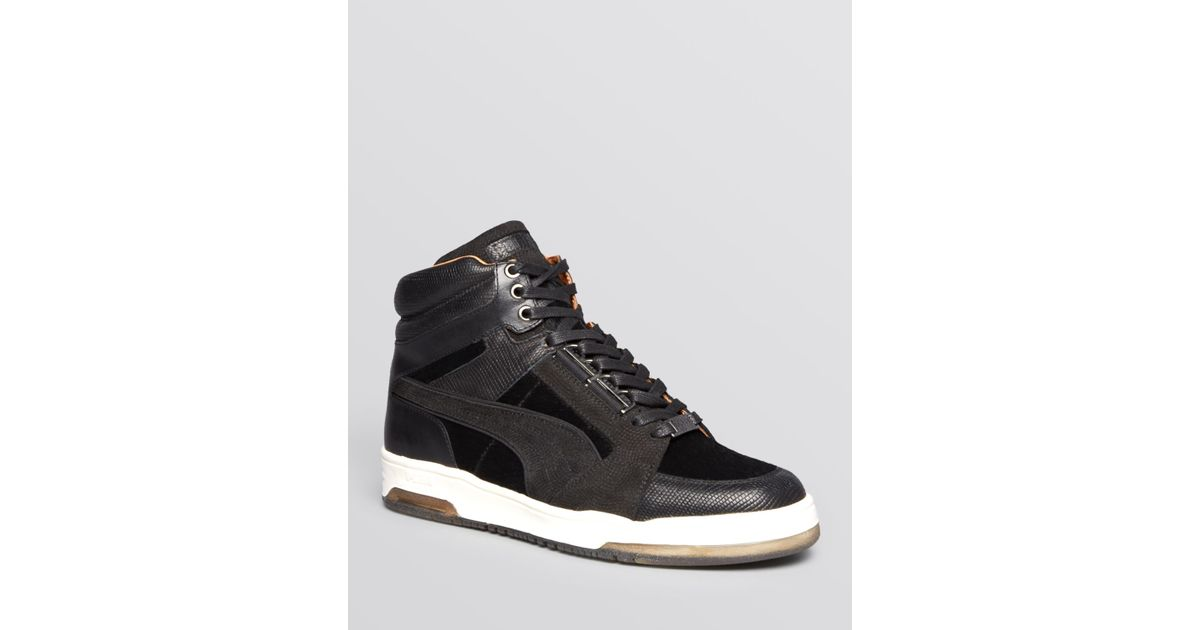 new concept b6a78 ac0b9 PUMA Black Alexander Mcqueen Slipstream X Made In Italy Sneakers for men