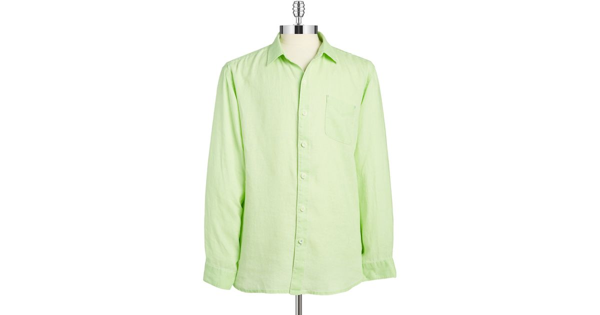 Tommy Bahama Relax Linen Shirt In Green For Men Lyst