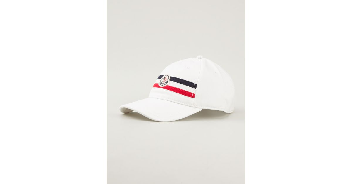 Lyst - Moncler Logo Cap in White for Men 1555451043a