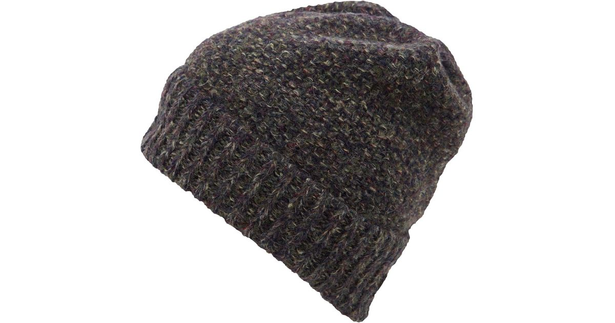 Lyst - Inverni Brown Mix Yarn Beanie Hat in Brown for Men 6af3102a581c