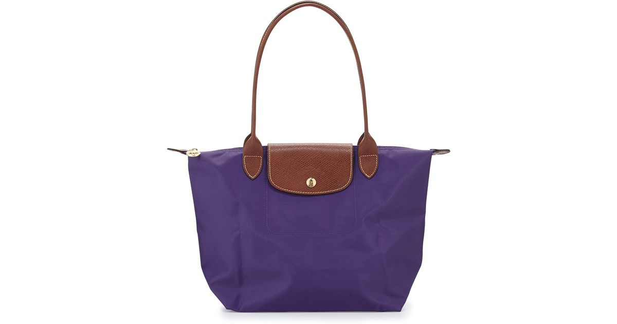 e11c65a127899 Lyst - Longchamp Le Pliage Medium Shoulder Tote Bag Amethyst in Purple