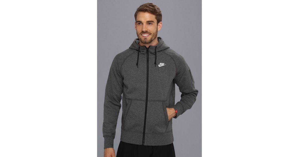 magasin en ligne 325c7 fcc50 Nike Gray Aw77 Fleece Fz Hoodie for men