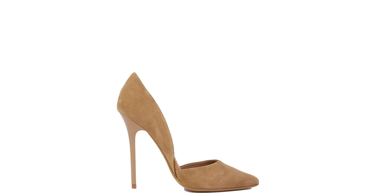 603e31c89b5 Lyst - Steve Madden Varcityy Pointed Toe Pumps in Brown