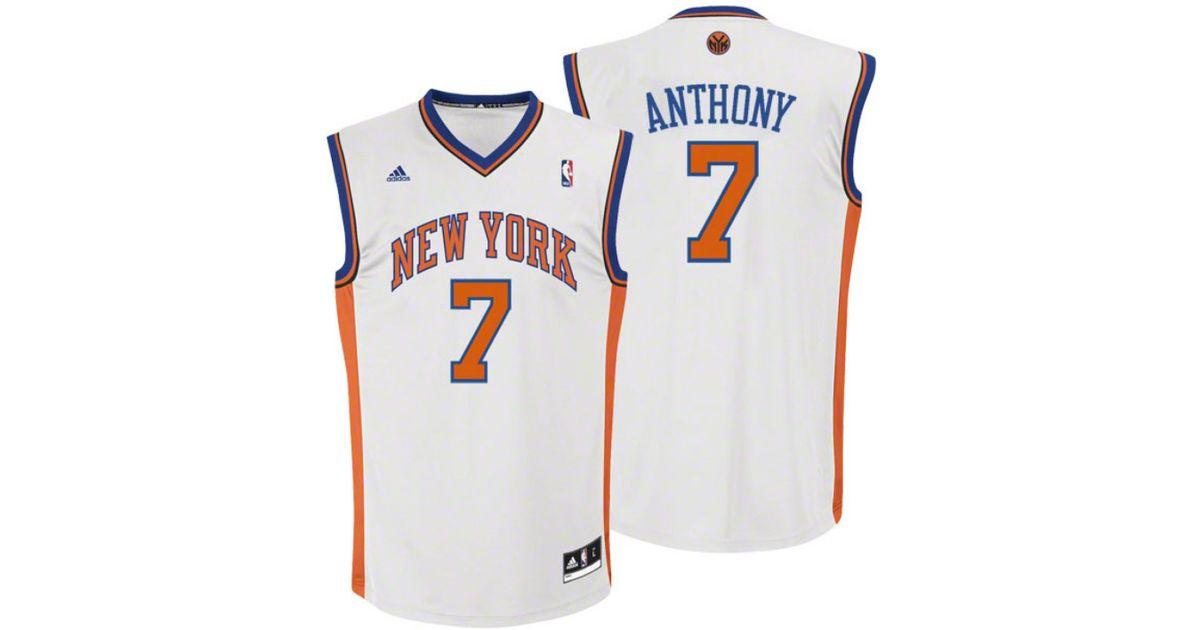084985fb2c93 Lyst - adidas Boys  Carmelo Anthony New York Knicks Revolution 30 Swingman  Jersey in White for Men