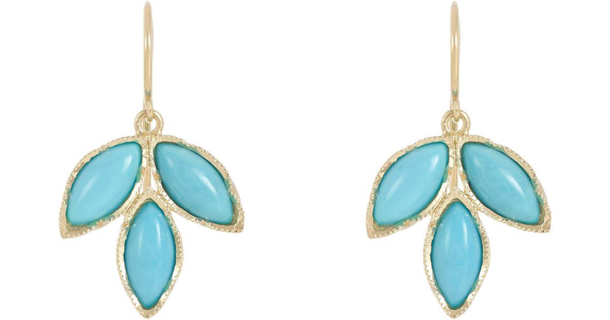 8b3c4ed03d3eb Irene Neuwirth Metallic Gemstone Triple Marquise Earrings