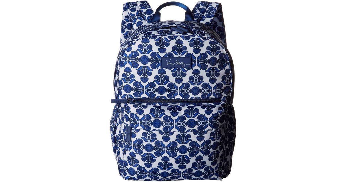 39a436cb16 Lyst - Vera Bradley Lighten Up Just Right Backpack in Blue