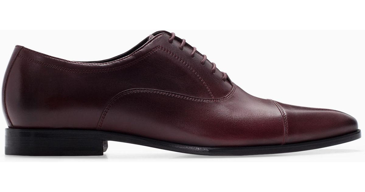 Fantastic Zara Oxford Shoes With Toecap Detail In Multicolor For Men  Lyst