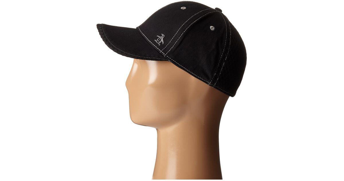 445a32e5a7a4b Original Penguin Stretch Fit Baseball Cap in Black for Men - Lyst