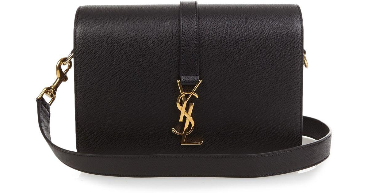 Lyst - Saint Laurent Université Monogram Leather Cross-body Bag in Metallic 1d8aa6e931f76