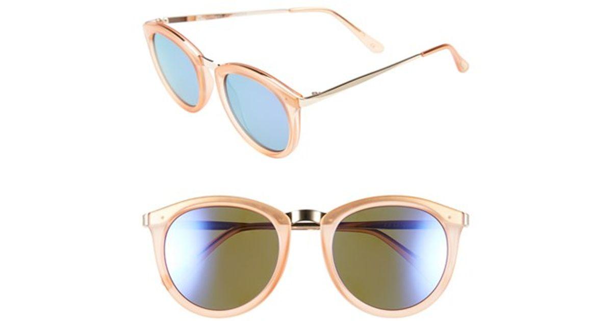 277db16e0a Lyst - Le Specs  no Smirking  50mm Round Sunglasses in Purple