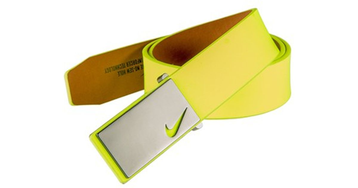 74840b227a6a61 Lyst - Nike Plaque Belt in Green for Men
