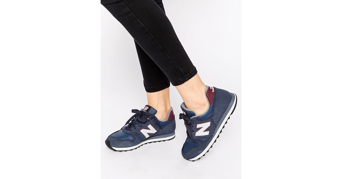 new arrival 9287d 1d106 New Balance Blue 373 Navy & Burgundy Suede Trainers