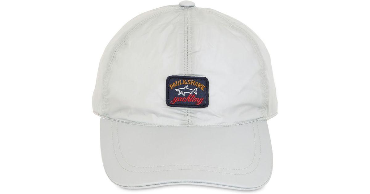 Lyst - Paul   Shark Nylon Baseball Cap in White for Men 836400ecc2f
