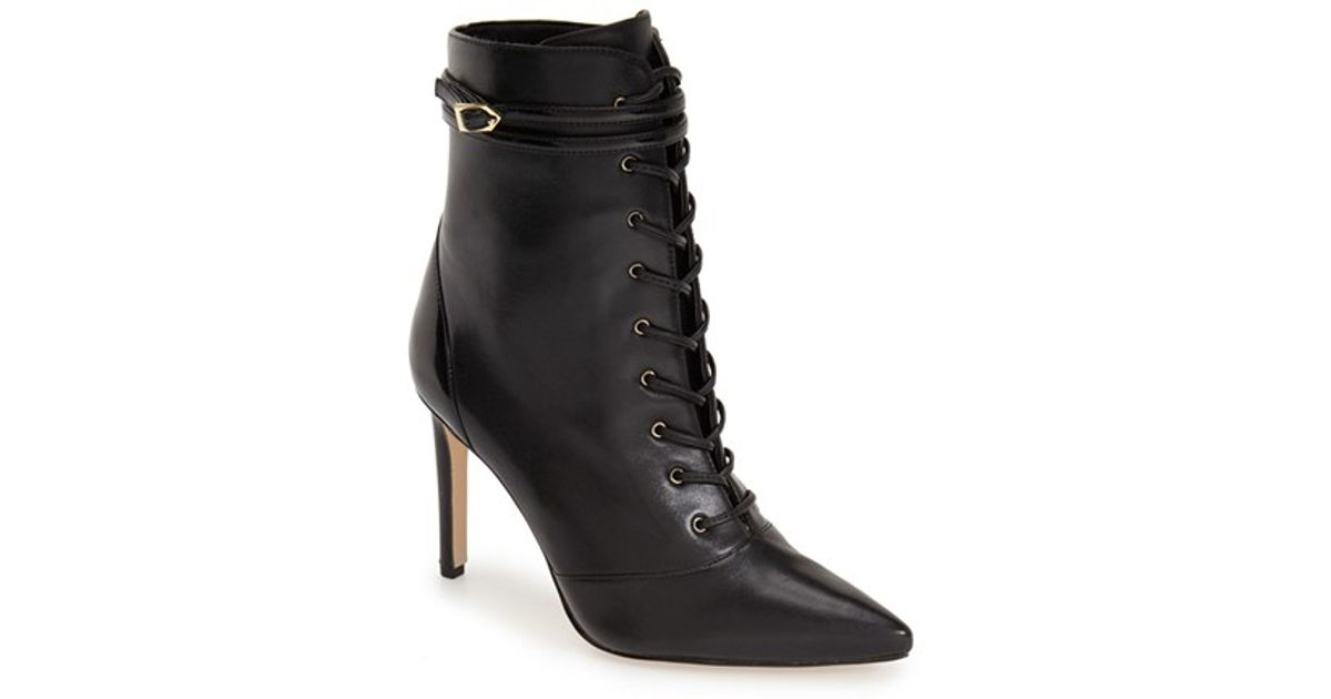 Sam Edelman Lace-Up Leather Ankle Boots