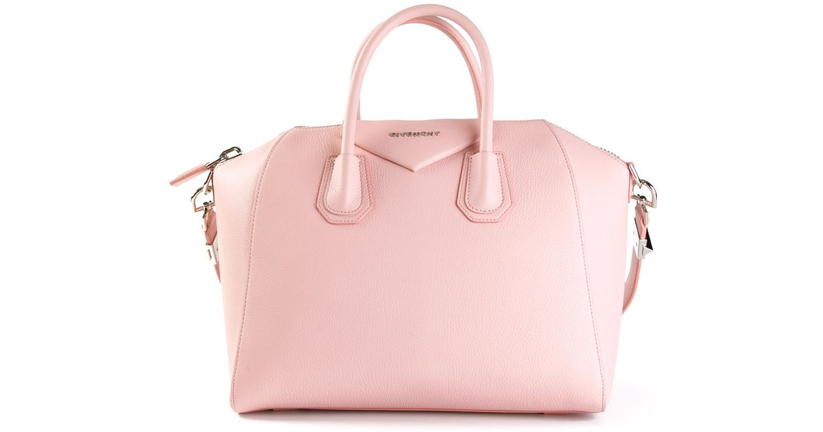 Genuine Shoes 0b4dc E93ca Lyst Givenchy Antigona Small Tote Bag In Pink