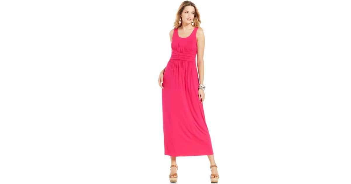 18ac8c84154 Lyst - Spense Petite Empire-waist Solid Maxi Dress in Pink