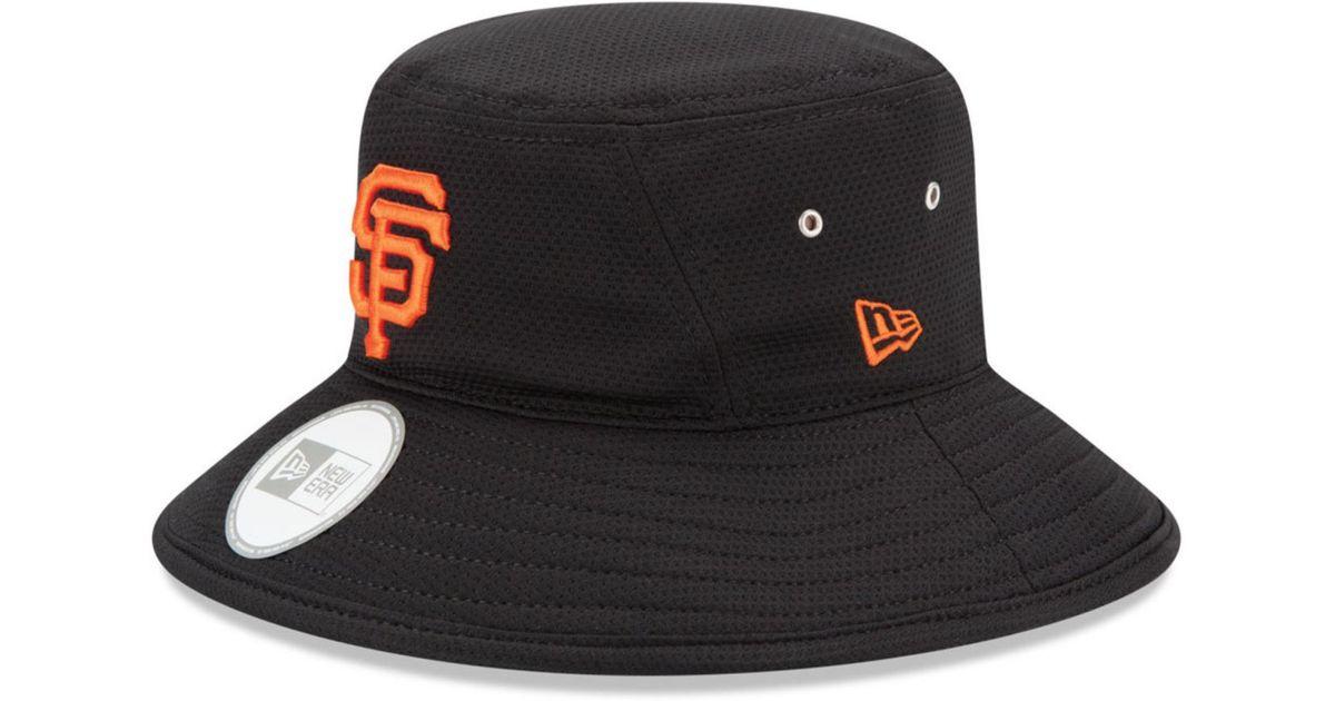 5a957ae484a Lyst Ktz San Francisco Giants Redux Bucket Hat In Black