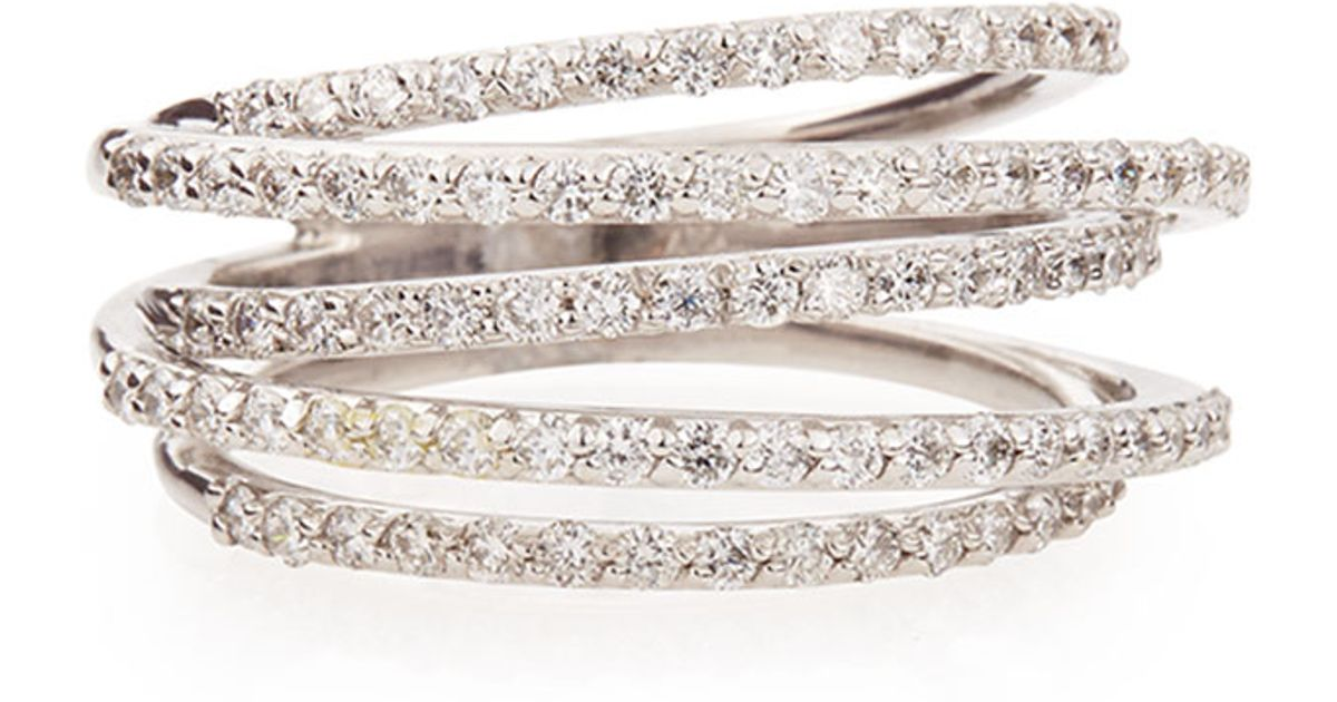Lyst - Kc Designs Diamond Roller Coaster Multi-Band Ring in Metallic