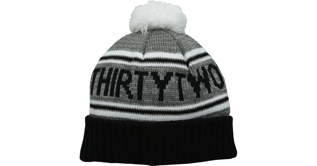162de8bc3a0257 Thirtytwo Pom Beanie in Gray for Men - Lyst
