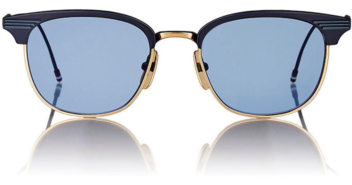 5f45349d8af4 Lyst - Thom Browne Tb 104 Sunglasses in Blue