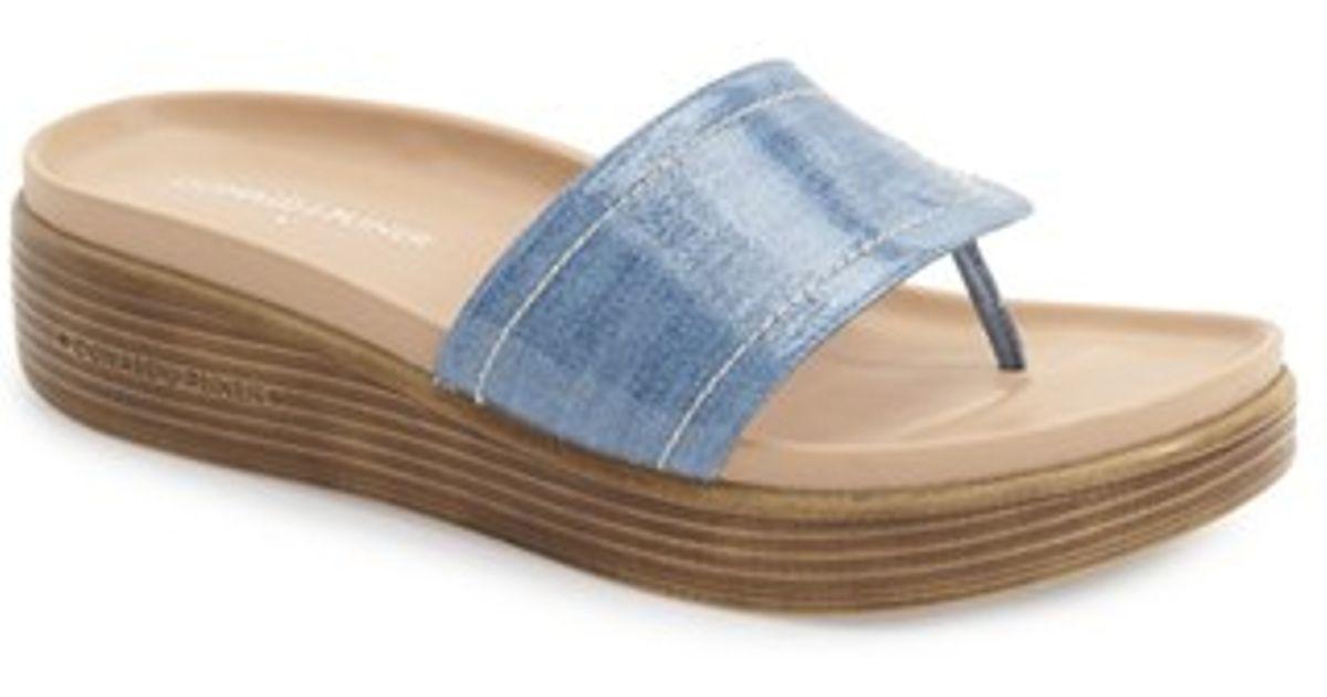 766a1aa657f Lyst - Donald J Pliner  fifi  Slide Sandal in Blue