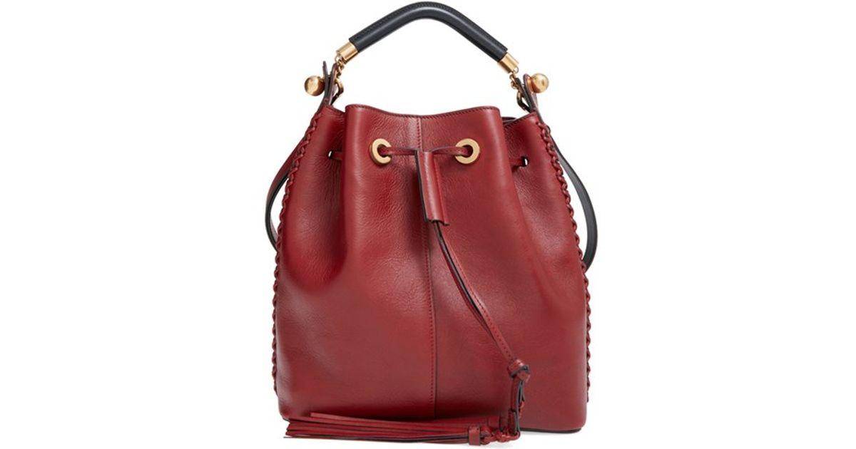 chlo bags - inez drawstring bag in smooth calfskin