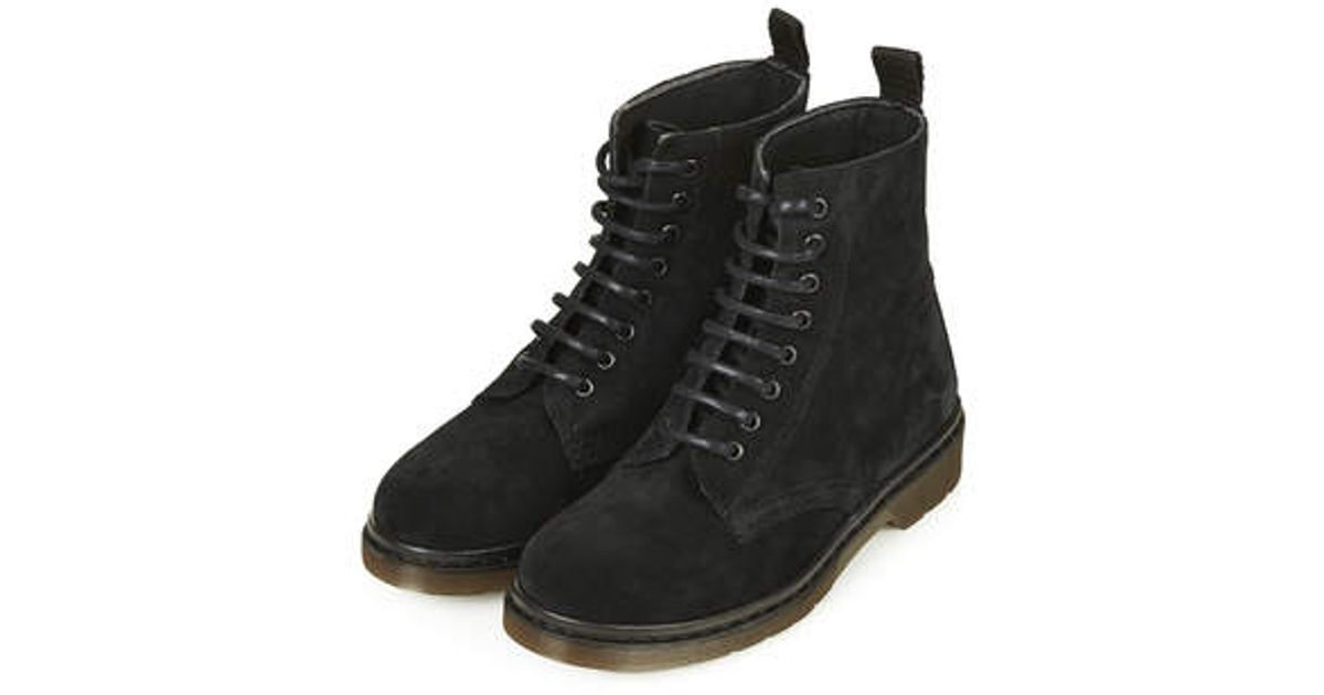TOPSHOP Admire Suede Lace Up Boots in