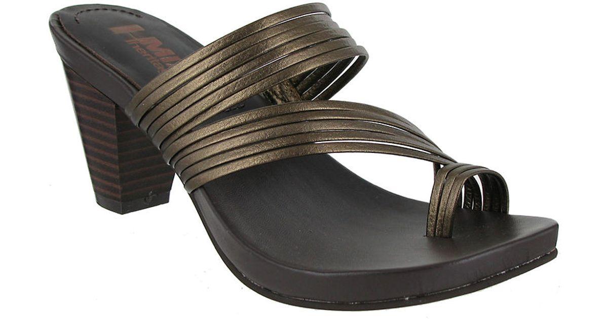 Leather Toe Sandals Virgo Mia Metallic Ring PuwXOTZik