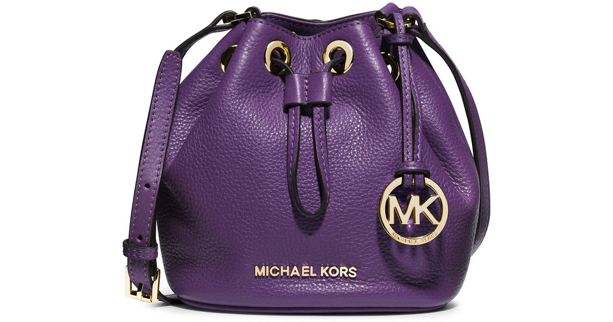 Lyst - MICHAEL Michael Kors Jules Drawstring Crossbody Bag in Purple a1bfbcc3a97c8