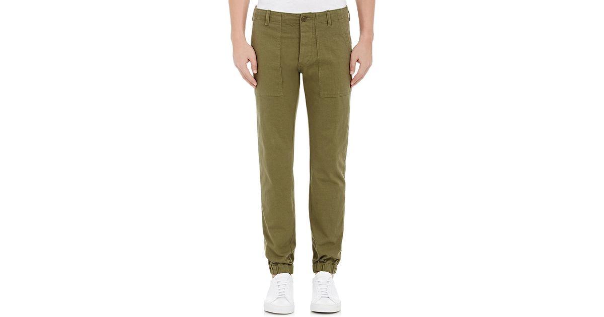 Lastest Army Green Cutout Front Pocket Loose Jogger Pants  Women PantsCasual