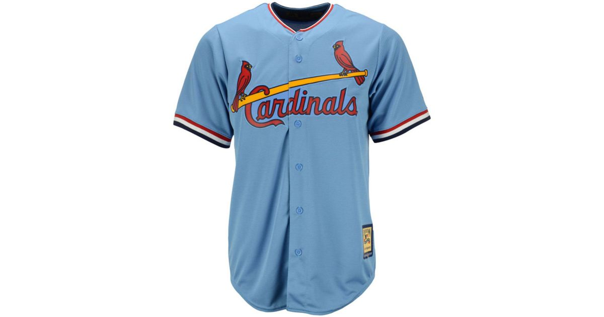 new concept 90378 aafa8 Majestic - Blue Willie Mcgee St. Louis Cardinals Cooperstown Replica Jersey  for Men - Lyst