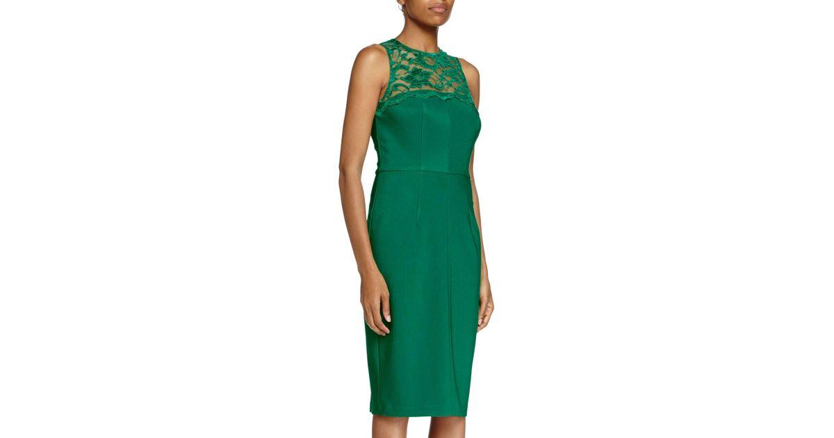 af16b30f Lyst - Alexia Admor Lace-yoke Cocktail Dress in Green
