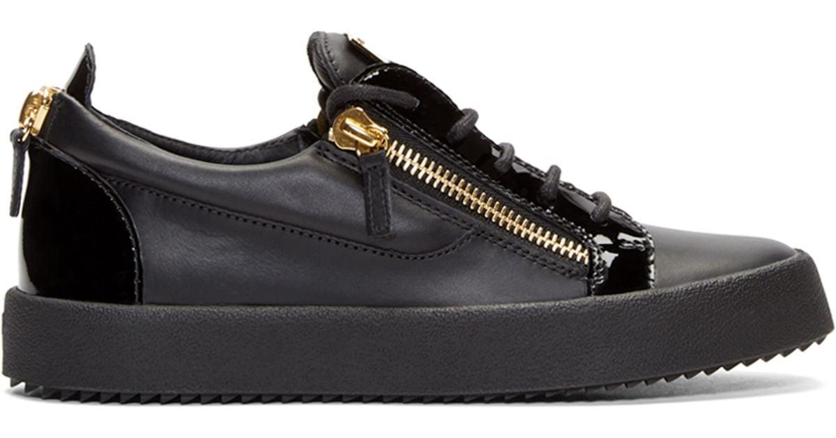 Giuseppe Zanotti Leather Black \u0026 Gold