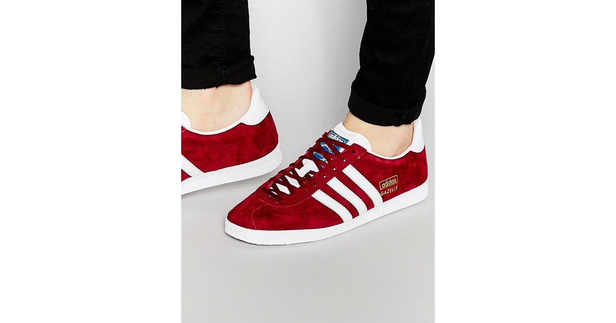 adidas Originals Gazelle Og Trainers Aq3193 in Red for Men - Lyst 16286e947