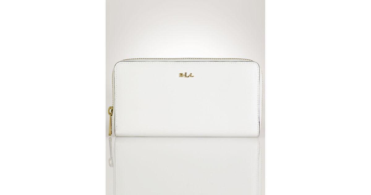 e3cf96a8e3 Lyst Lauren By Ralph Tate Zip Wallet In White. Ralph Lauren Handbags
