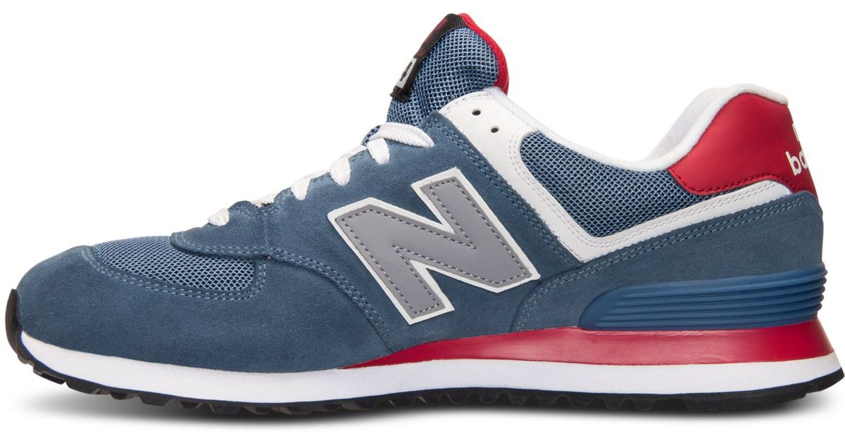 new products ad386 18cb3 New Balance Blue Men's 574 Core Plus Casual Sneakers From Finish Line for  men
