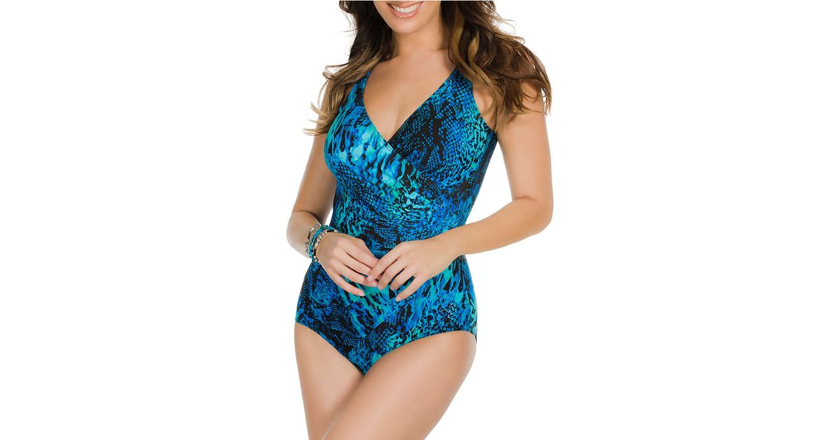 915feb1a95cb6 Lyst - Miraclesuit One-Piece Off The Scales Oceanus Swimsuit in Blue