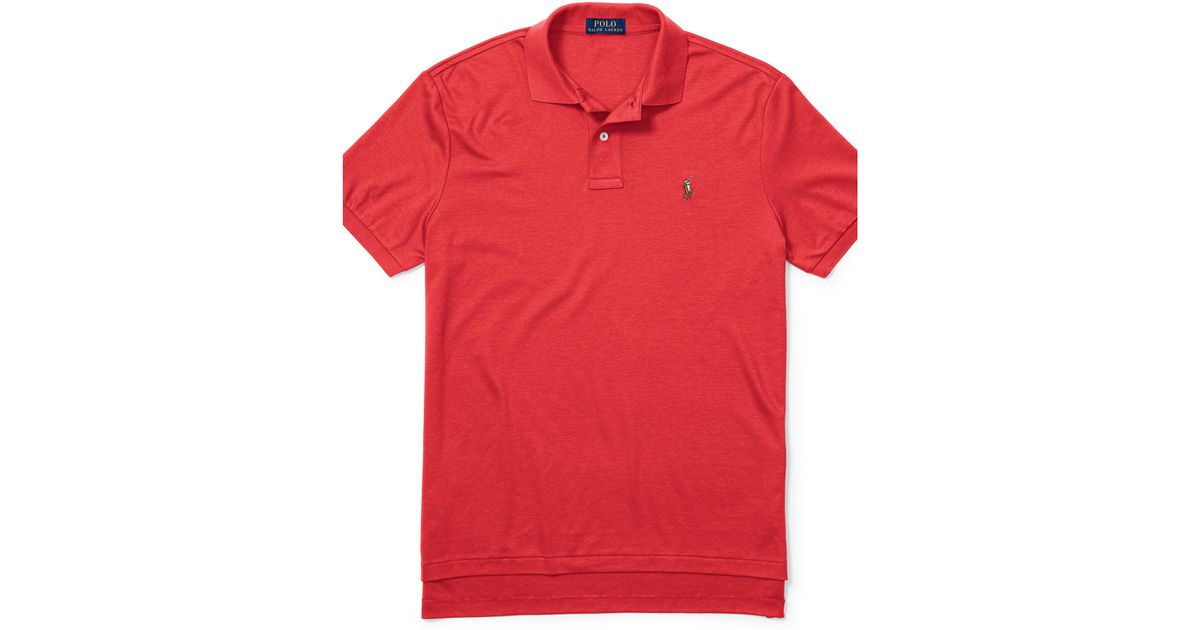 2b3f662d27585 Lyst - Polo Ralph Lauren Pima Soft-touch Polo Shirt in Red for Men